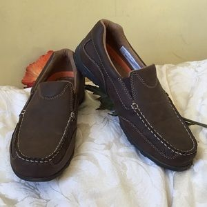 Nordstrom Rack brown faux leather loafers shoes 6